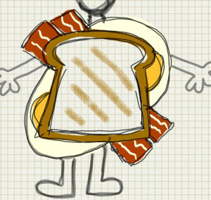 Bacon and Egg sandwich Costume_1