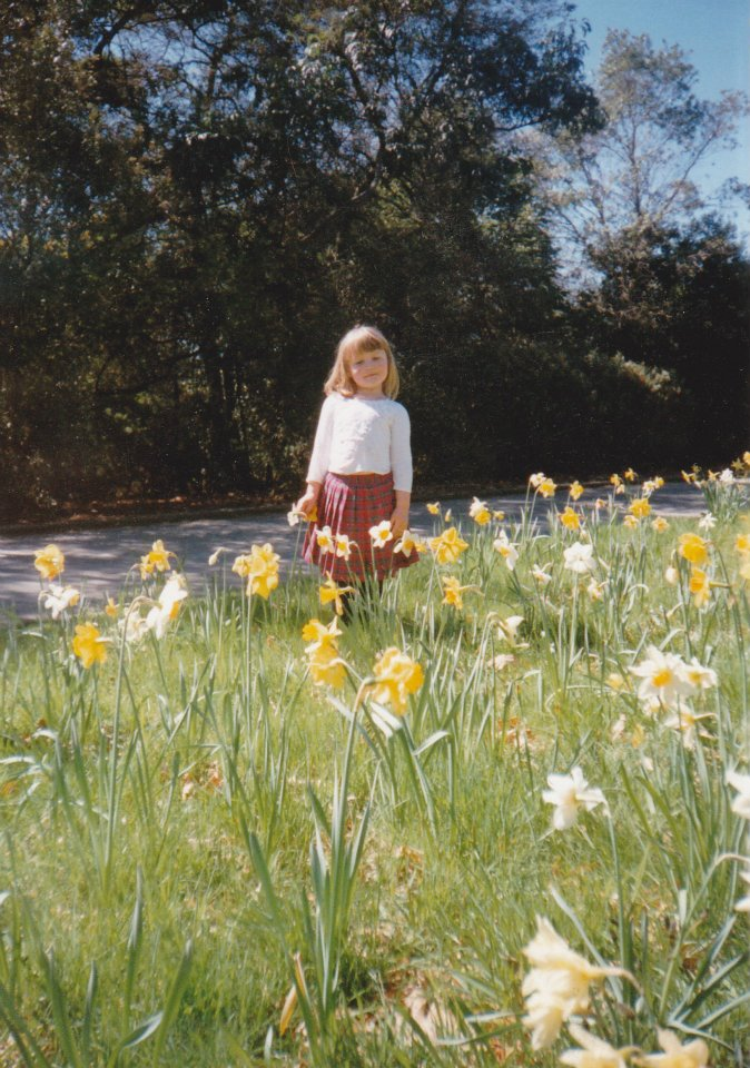 Dunedin Botanic Gardens - 1994 (?) - My favourite plaid skirt!